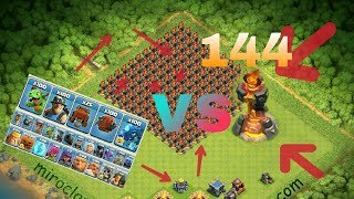 144 MAX INFERNO VS ALL MAX TROOPS###OMG/CLASH OF CLANS