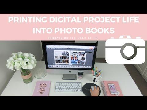 Printing digital Project Life