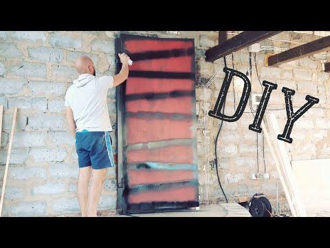 Отделка своими руками двери металлической входной двери