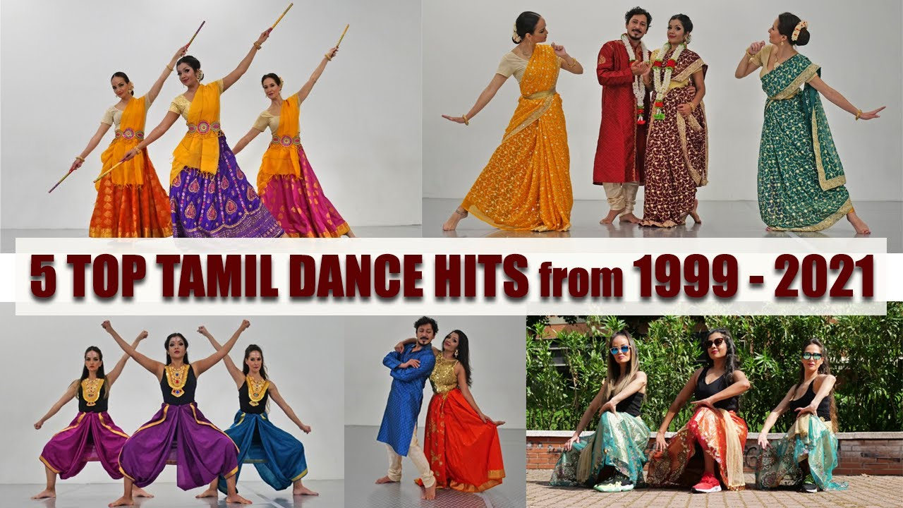 5 Top Tamil Dance Hits From 1999 To 2021   5 Styles, Choreography & Costumes   Vinatha & Company