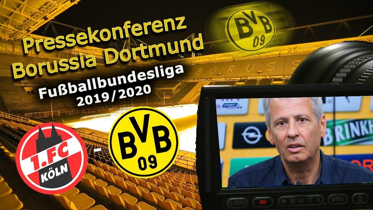 1. FC Köln - Borussia Dortmund: Pk mit Lucien Favre und Michael Zorc