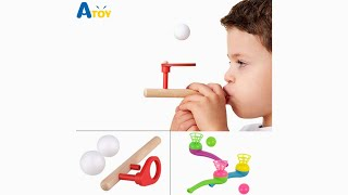 Floating Game Blow Outdoor Funny Sports Creative Pipe Child Kids Gift Educational Toys Juggling Ball
