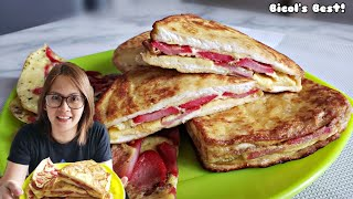 EASY BREAKFAST IDEA LEVEL UP YOUR BREAD,EGGS & HOTDOG | KIDS WILL SURELY KISS YOU | StrawBerry-Gery