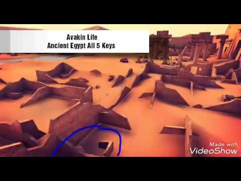 Avakin Life - Ancient Egypt - All 5 keys and Grand prize