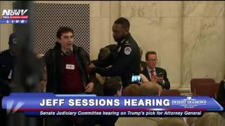 FNN: EVEN MORE Protesters Escorted Out of Jeff Sessions Confirmation Hearing