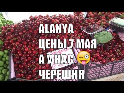 ALANYA 7 мая Рынок Цены на Черешню клубнику абрикос Аланья