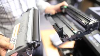 How to change Brother laser printer toner cartridge - by Inkjetstar.com