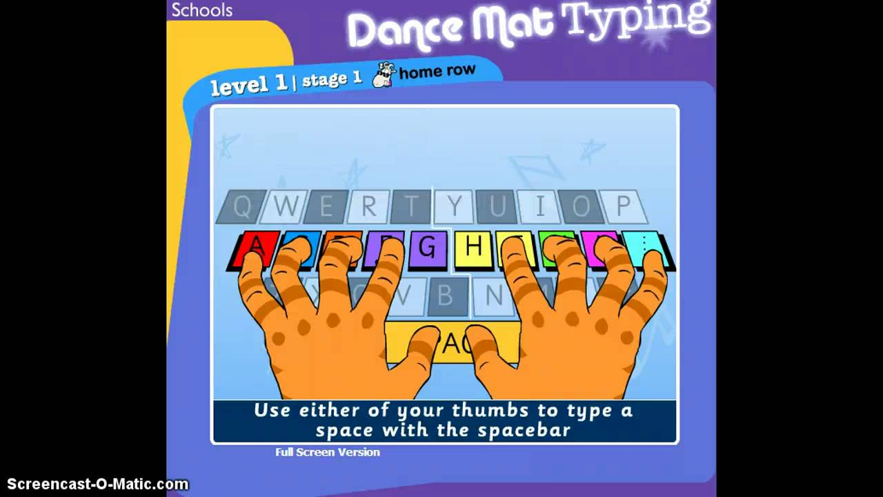 Worksheet Dance Mat Typing Stage 1 Level 1 dance mat typing demo youtube