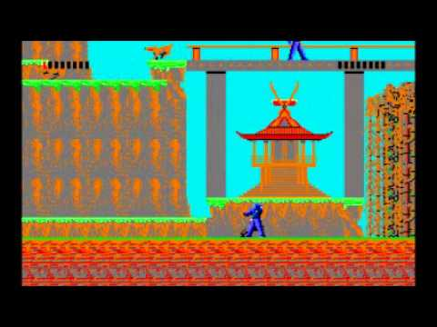 Ninja Ms Dos Old Classic Game Part1 Youtube