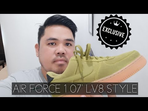 UNBOXING NIKE AIRFORCE 1 07 LV8 STYLE