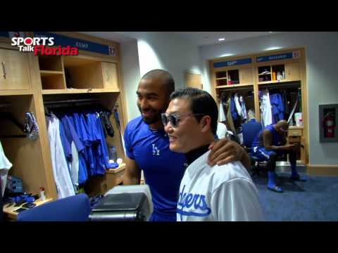PSY meets Hyun-Jin Ryu: Los Angeles Dodgers