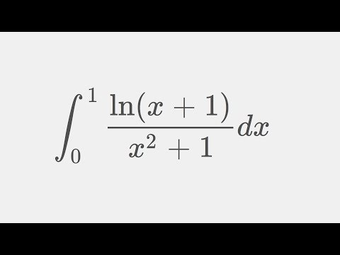 Embracing the Putnam Boi!  Integral ln(x+1)/(x^2+1) from 0 to 1 , Putnam exam integral