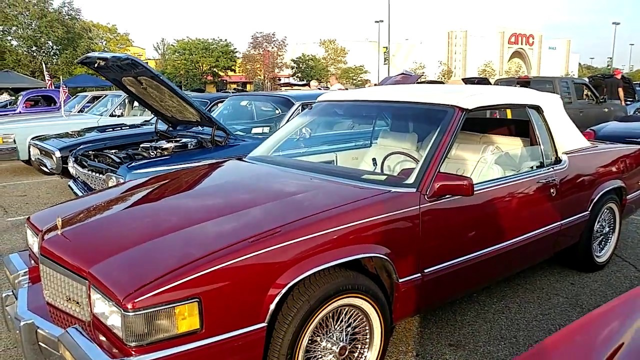1989 METALLIC RED CADILLAC COUPE DEVILLE CONVERTIBLE - YouTube