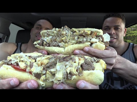 Eating The Beast Sub | In Search Of Best Sandwich Ever | @hodgetwins