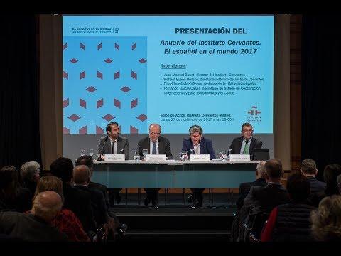 El Instituto Cervantes presenta el anuario «El español en el mundo 2017»