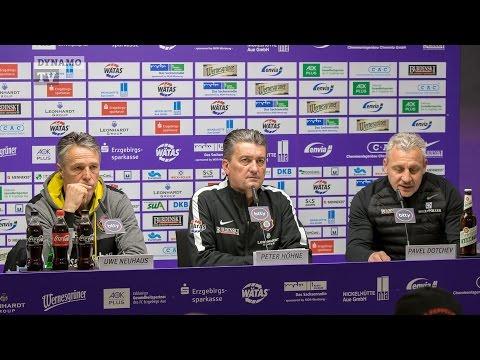 22. Spieltag   AUE - SGD   Pressekonferenz nach dem Spiel