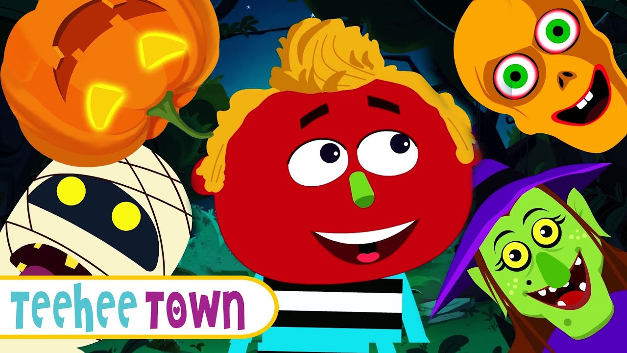 We're Out Here On Halloween | New Fun Spooky HALLOWEEN Song For Kids | Teehee Town