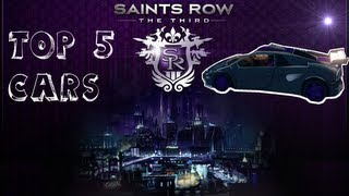 Top 5 cars in Saints Row: the third