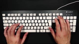 Скачать АСМР ASMR Клавиатура Logitech K310 Печать Офисный звук Keyboard Logitech K310 Typing Office Sound