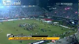 Santos vs. Penarol, Copa Libertadores brawl.