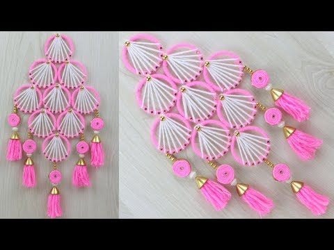 Best out of waste Bangles and Wool Craft Idea/How to make door hanging with bangles & Woolen at home