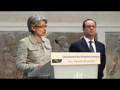 Irina Bokova et François Hollande solidaires des peuples iraquien et syrien