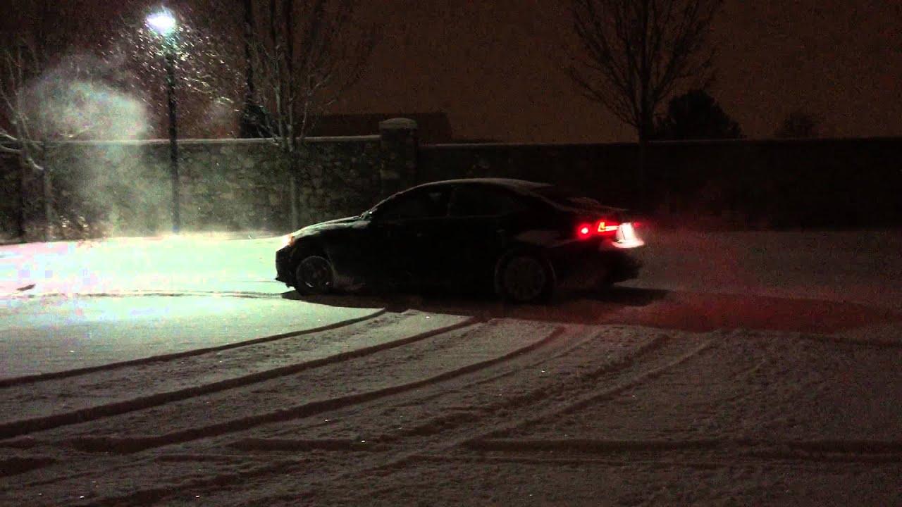 Lexus is 250 drifting in snow denver