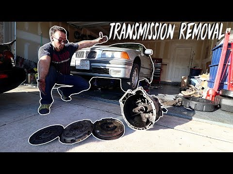 How to remove a BMW E36 transmission