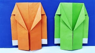 How to make a Paper Coat Easy   Origami suit Jacket Tutorial
