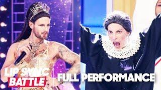 "Nico Tortorella's ""God is a Woman"" vs. Molly Bernard's ""Don't Rain on My Parade"" | Lip Sync Battle"