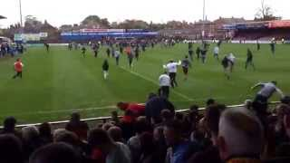 York City v Newport 26/04/14 1-0 last game at home pitch invasion