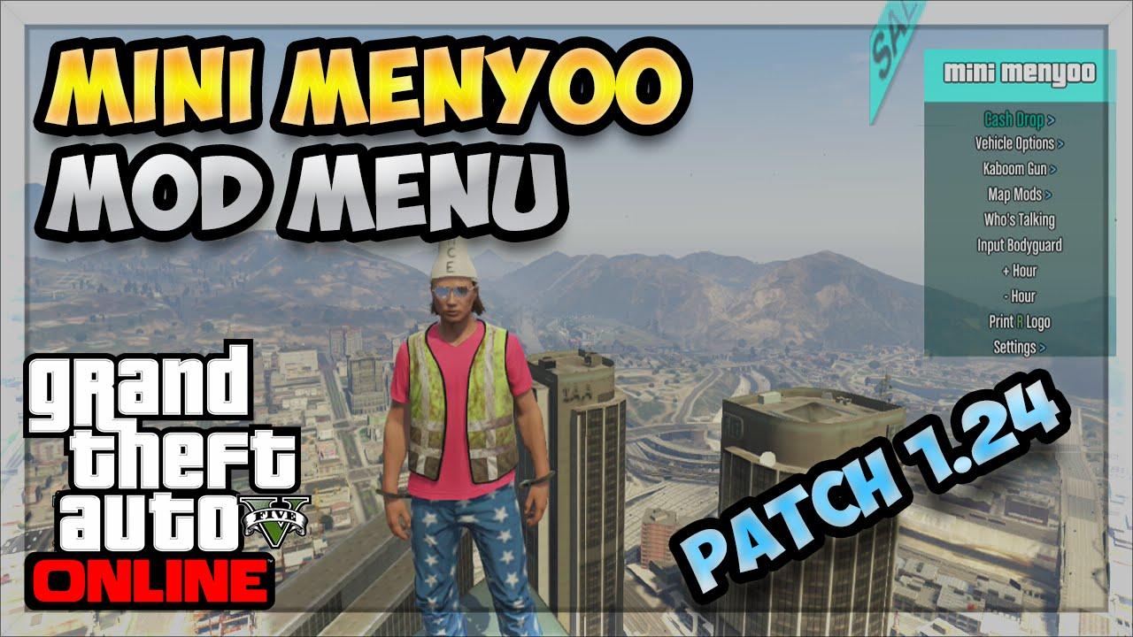 GTA 5 Online: Mini Menyoo Mod Menu + DOWNLOAD (Patch 1 24) *Showcase