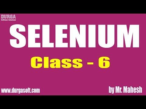 Learn SELENIUM Online Training   Class - 6   by Mahesh Sir