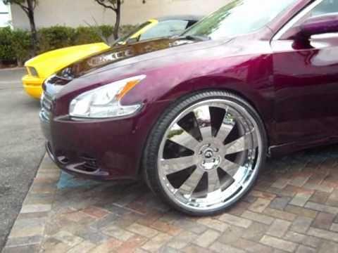 06 Nissan Maxima On 22s Youtube