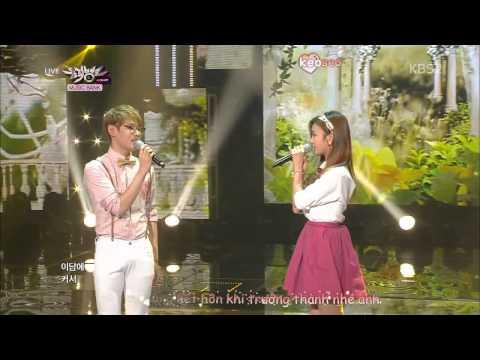 [Vietsub + Kara] K-Hunter (Feat A Pink's Bomi) - Marry Me (Acoustic Ver ) @ Music Bank