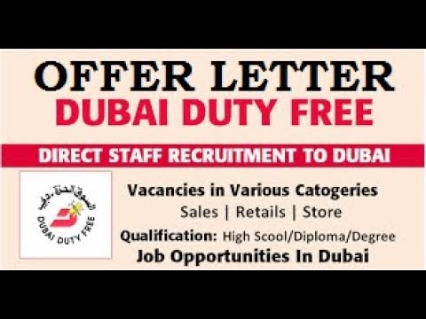 Offer Letter for Selected Candidates | Sales Jobs in Dubai | Male & Female | Dubai Latest Job 2018