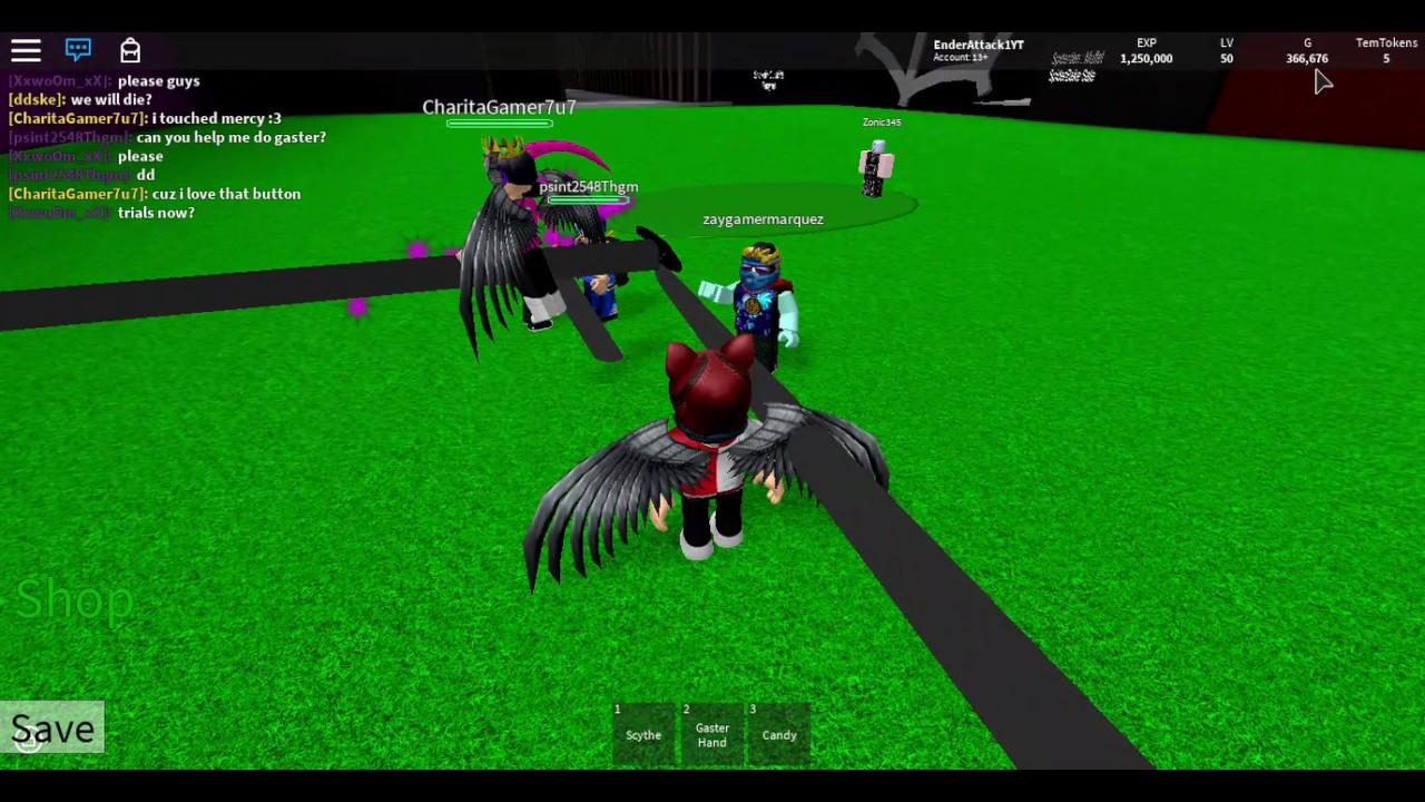 GASTER HAND?! - Roblox Undertale 3D Boss Battles
