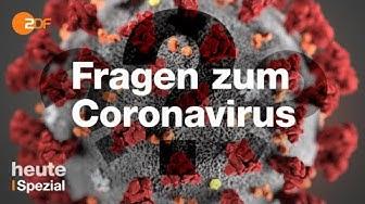 Das Coronavirus: Ihre Fragen   ZDF spezial vom 17.03.2020
