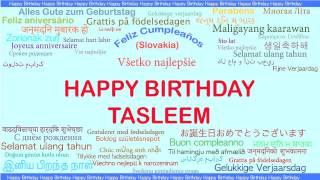 Tasleem   Languages Idiomas - Happy Birthday