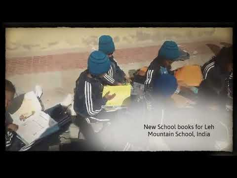 Thank you, Stella - New school books for the kids at our Mountain School in Leh