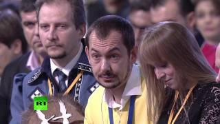 Владимир Путин ответил украинскому журналисту на вопрос о «войсках РФ» в Донбассе