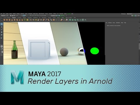 Maya 2017 - Render Layers in Arnold