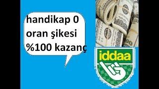 İDDAA'DA HANDİKAP 0 ORAN ŞİKESİ (KANITLI) %99.99.99