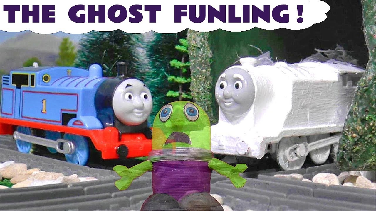 Thomas and Friends Ghost Train helps an Invisible Funny Funling TT4U