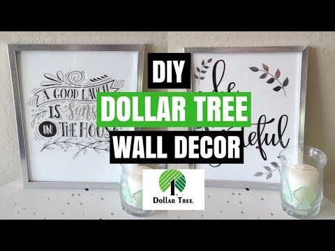 DOLLAR TREE DIY WALL DECOR| DIY ROOM DECOR| COLLAB