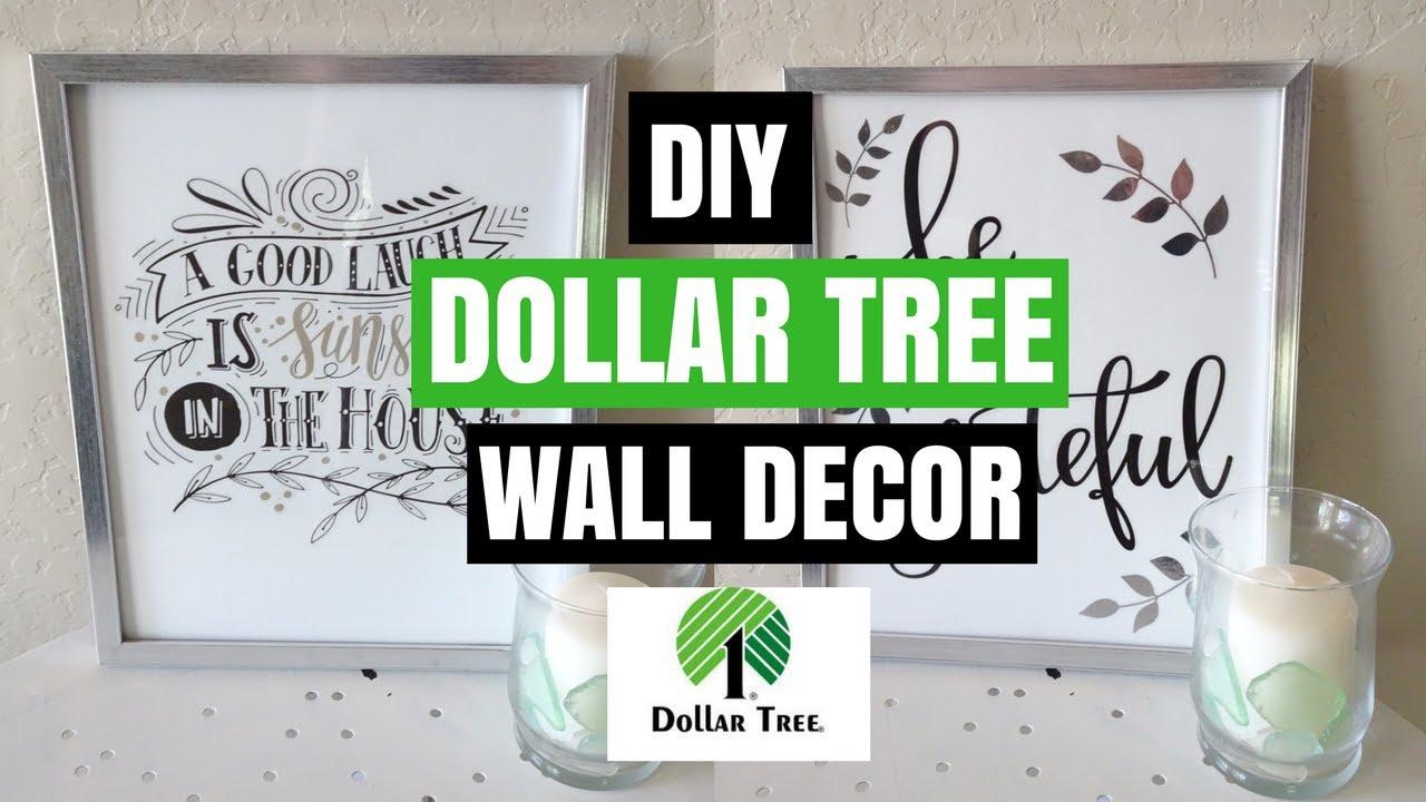Dollar Tree Diy Wall Decor Diy Room Decor Collab Youtube