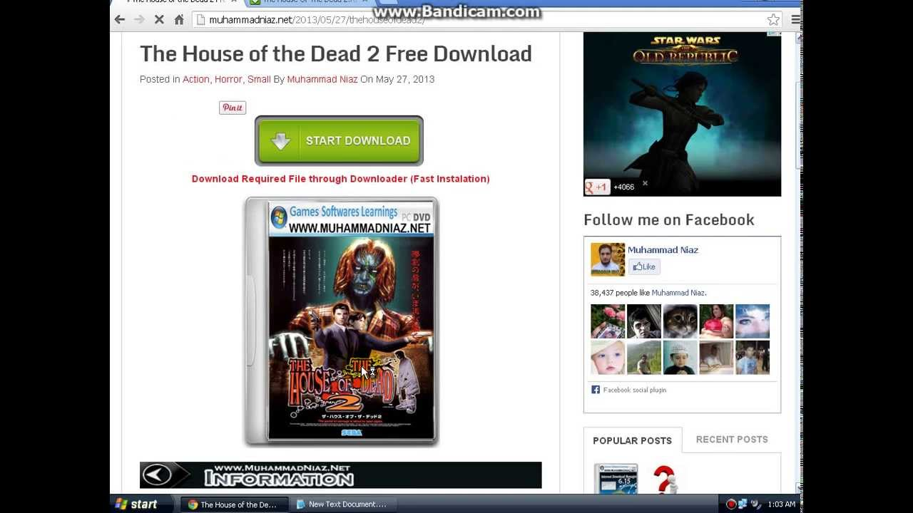 house of dead 2 game free download for pc