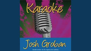 Cover images To Where You Are (In The Style Of Josh Groban)