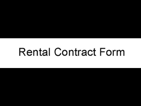 Rental Contract Form