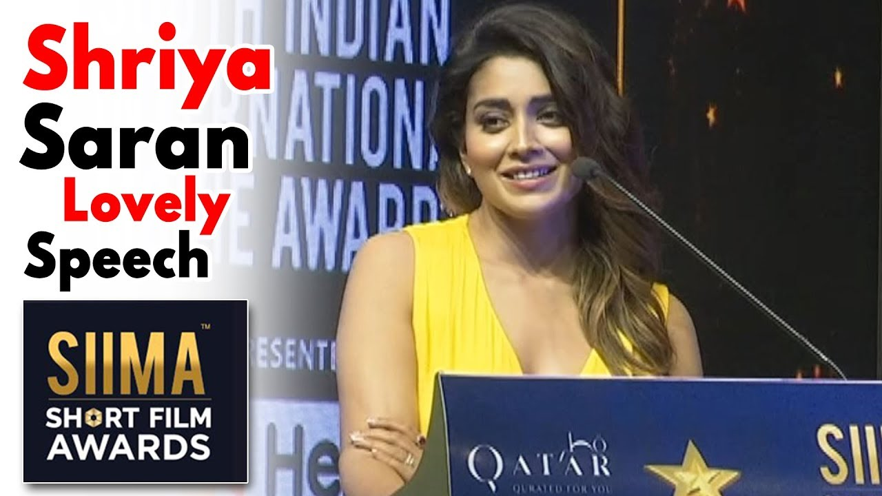 Shriya Saran Lovely Speech At Siima Short Film Awards 2019 | Priyadarshi |  Daily Culture